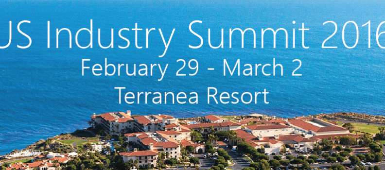 US Industry Summit February 29 – March 2 Terranea Resort